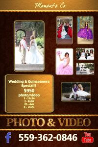 Packages /booth/video/photo (Spanish/English Visalia