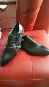 pair of black leather dress shoes Gatineau, J8Y 3T4
