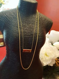 Gold colored necklace with Libra pendant Bowie, 20716