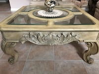 Coffee table with glass top and 2 end tables with glass top Toronto, M9N 3S7