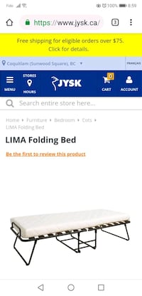 Used folding bed.   Almost new