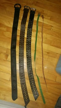 Never worn belts, 2 are genuine leather. Montreal, H8T