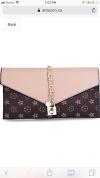 black and brown Louis Vuitton leather wristlet 3123 km