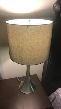 Gray and silver table lamp  Baltimore, 21234