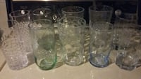 Glasses,no chips or cracks,2 of each,5 for lot Omaha, 68154