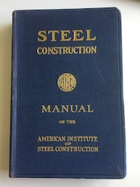 1947 Vintage Steel Construction Manual AISC 5th Edition Calgary, T2R 0S8
