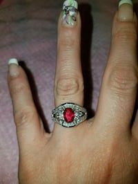 Sterling silver Ruby and white sapphire size 7 Dundalk, 21222
