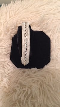 White Mesh Cuff Bracelet w/Sterling Silver Accent & SS End Caps‼ Brand New!  A Stunning Bracelet & Only $20‼ Mardela Springs, 21837