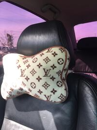 white and brown LV neck pillow La Porte, 77571