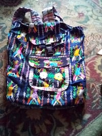 Backpack from Guatemala handmade on the loom by Mayan Indians