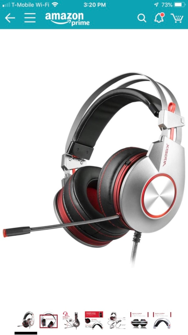 Brand new PS4 Gaming Headset for Xbox One Headphones Wired Over Ear  Surround Sound with Microphone Switch Stereo Bass Volume Control Noise  Isolating