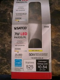Satco 7w LED light bulb