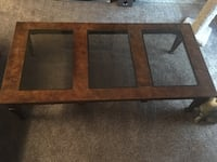 Large Coffee Table with Glass Port Orange, 32127