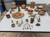 Numerous Vintage Copper and Brass Pieces Virginia Beach, 23456