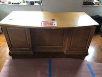 Light brown solid desk w built in safe state of the art by creative ideas solid deal Chicago, 60611