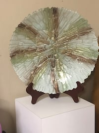 """Beautiful Plate on Stand 16"""""""