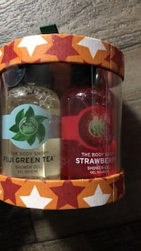 Four The Body Shop shower Gels
