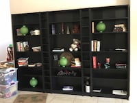 black wooden TV hutch with flat screen television Las Vegas, 89123