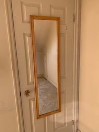 rectangular mirror with brown wooden frame 540 km
