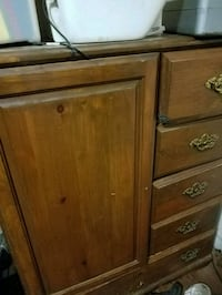 4ft dresser with cabinet space.