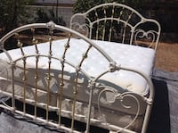Antique cast iron king size bed frame no mattress  San Bernardino, 92410