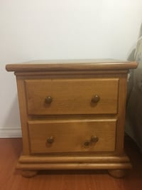 Moving sale Set of two. Brown wooden 2-drawer nightstand. 2 units Richmond, V6Y