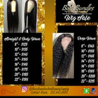 100% Raw Human Hair - Lace Front Wig Capitol Heights