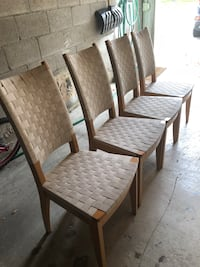 4  wooden framed padded chairs Richmond Hill, L4B 4H5