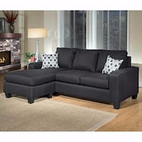 BLACK FRIDAY SPECIAL!! LEATHERETTE SOFA WITH REVERSIBLE CHAISE