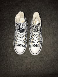 New/Unused Zebra Converse Chuck Taylors All-Star Cudahy, 90201