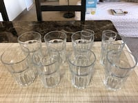 IKEA Clear Glasses for Hot and Cold Drinks (POKAL) (8 Nos., $5 Total). Hartford