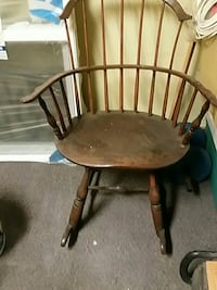 brown wooden windsor back chair