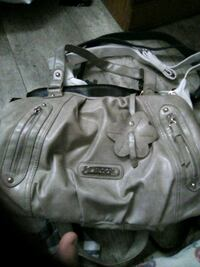 gray leather 2-way bag Brantford, N3T 2T2