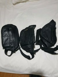 three black leather fanny bags Montreal, H1R 3Z5