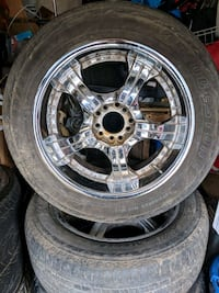"""20"""" chrome rims small chevy pattern Evansville, 47720"""