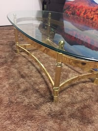 Brass glass top coffee table Guelph, N1H 1X3