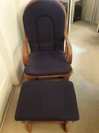 Blue and brown glider chair.  Surrey, V3R 0R6