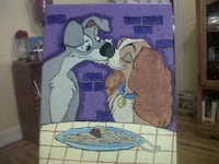 Disney Lady and the tramp painting Manchester, 03102