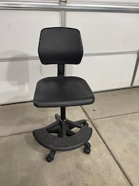 Black Urethane Drafting Chair