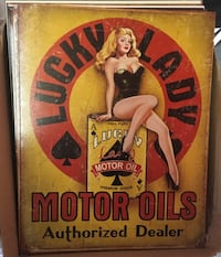 Lady Luck metal sign
