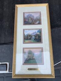 Thomas Kincade AUTOGRAPHED Framed & Matted Print Washougal, 98671