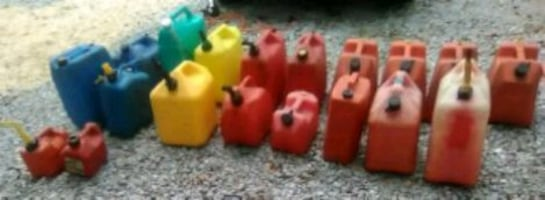 16 Gas Cans-Different Sizes