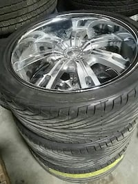 3 tires and rims size r 265 35 r22 Burnaby, V5J 3J1