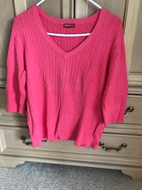 pink scoop-neck long-sleeved shirt Boone, 28607