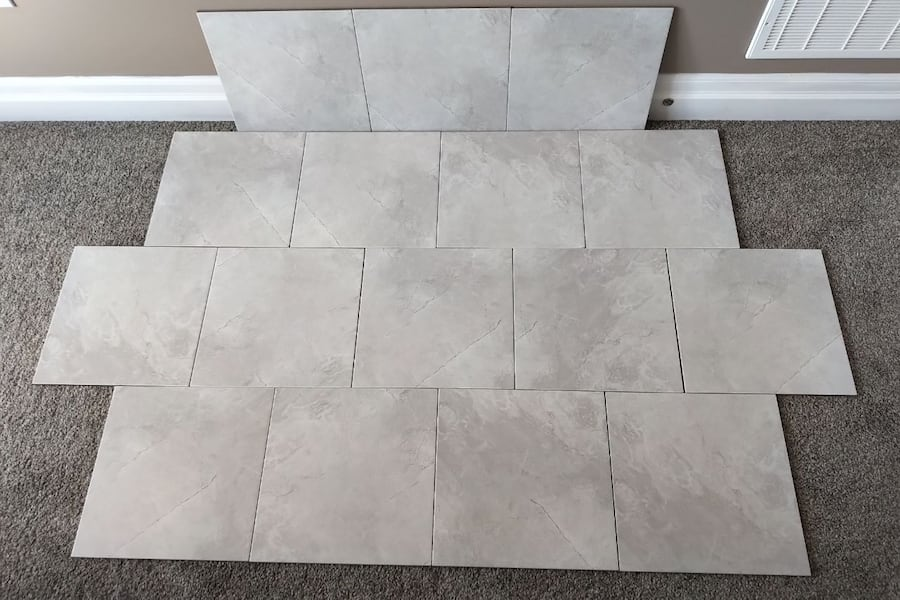 Brand New 13 x 13 White Porcelain Tiles  1