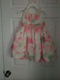 pink and green floral sleeveless dress Arlington