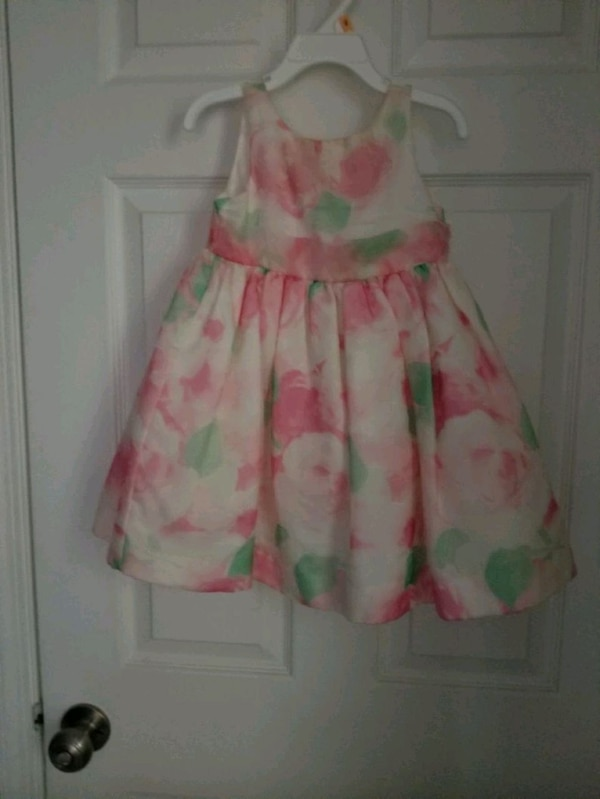 pink and green floral sleeveless dress 0b577f35-f7dd-4edd-b312-11ee164eda46