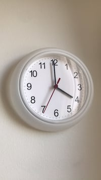 round white analog wall clock North Vancouver, V7L 4T1
