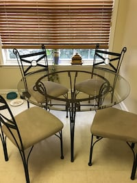 Glass table with 4 Rought Iron Chairs Matawan, 07747