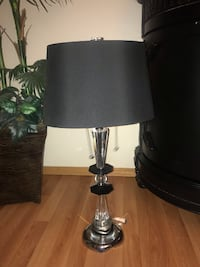 black and white table lamp EDMONTON